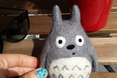 Keçe iğneleme tekniği ile Totoro Yapımı