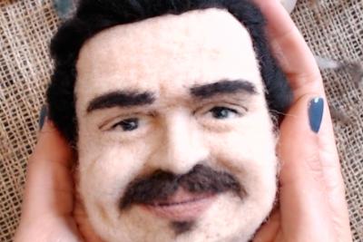 Keçe iğneleme tekniği ile 3D Portre Yapımı